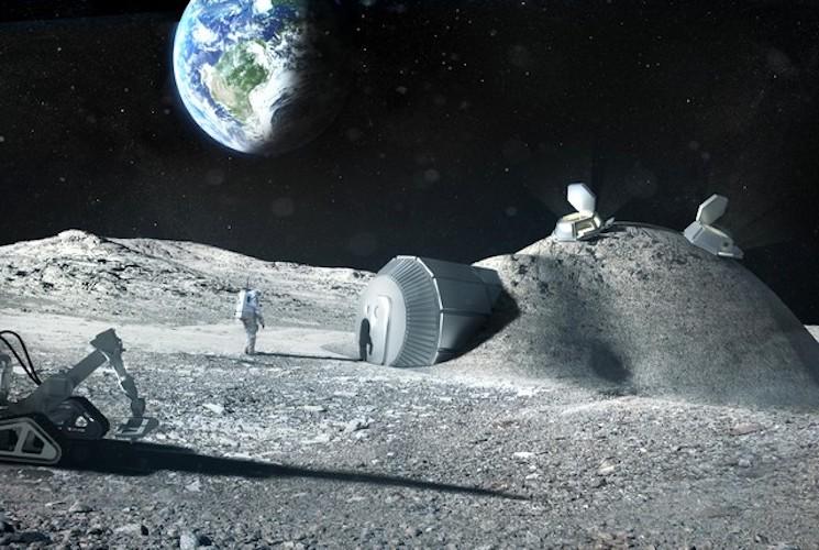 3d принтер построит базу на Луне