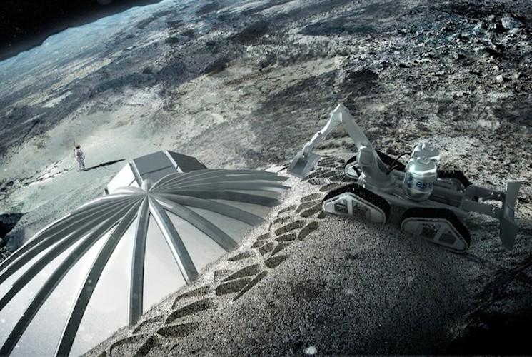Строим лунную базу с помощью 3D принтера