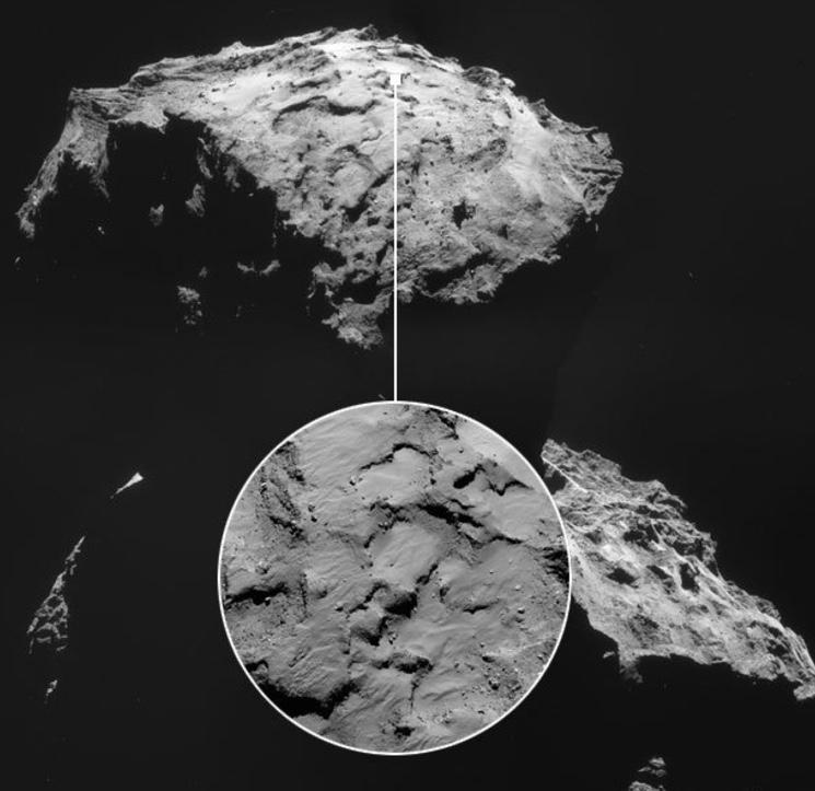 Первые снимки поверхности кометы 67P/Чурюмова - Герасименко