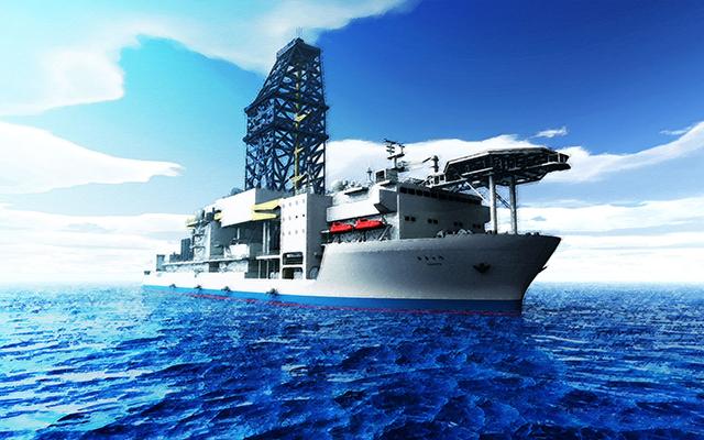 корабль по добыче газа из гидрата метана Chikyu