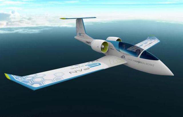 полностью электрический самолет E-Fan
