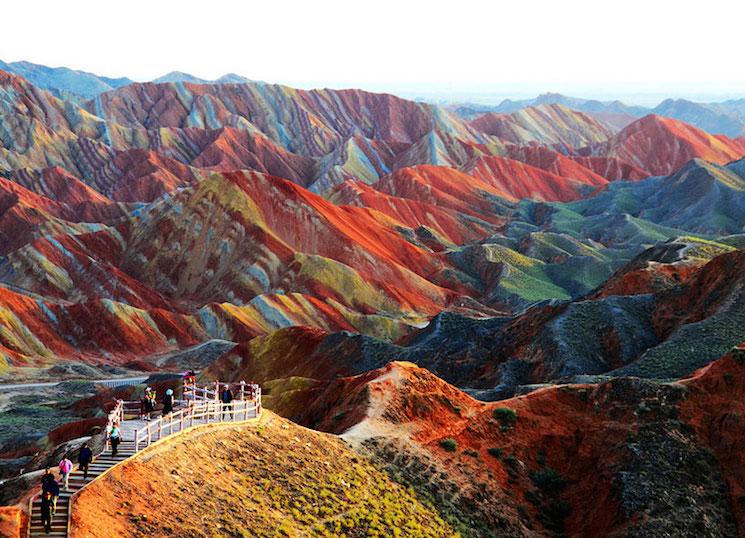 Китай, Цветные скалы Чжанъе Данксиа