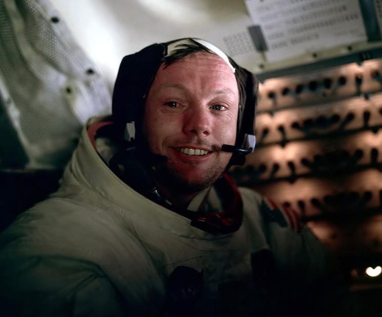 Нил Армстронг на борту Apollo-11