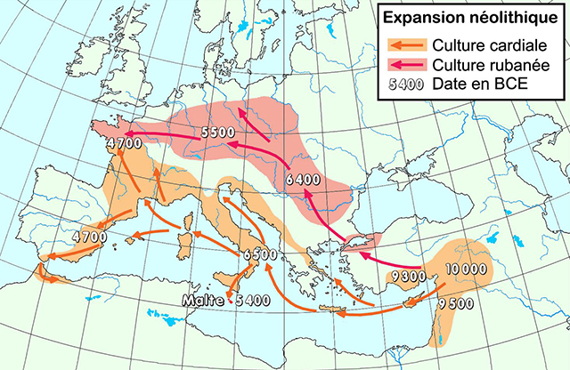 Карта переселения древних людей