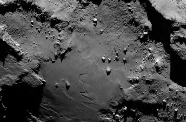 Фотография поверхности кометы 67P/Чурюмова - Герасименко, сделанная с модуля Фила