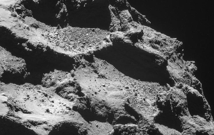 Фото поверхности кометы 67P/Чурюмова - Герасименко, сделанное с модуля Philae
