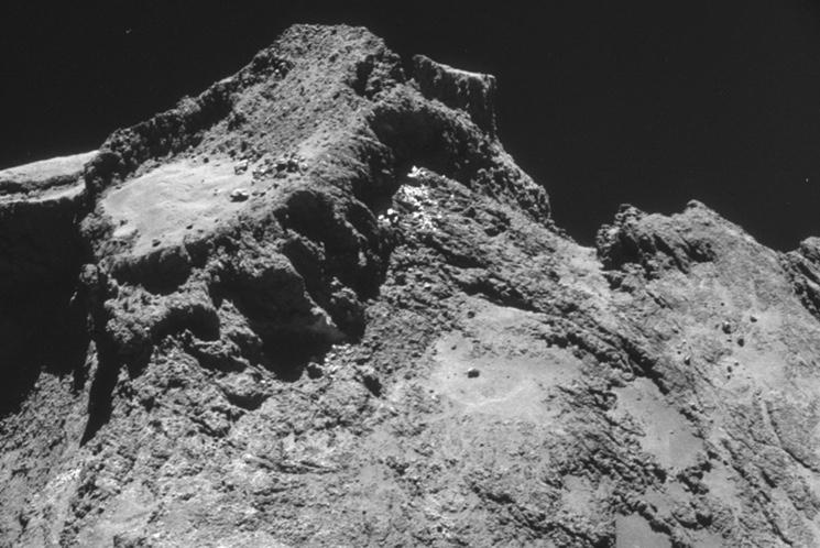 Фото кометы Чурюмова - Герасименко, сделанное с модуля Philae зонда Rosetta