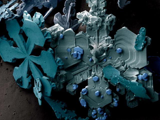Кристал замёрзшей воды