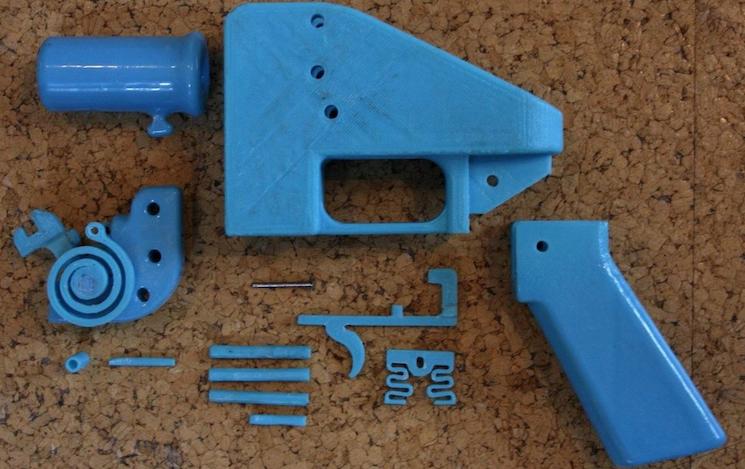 Детали 3D пистолета Liberator