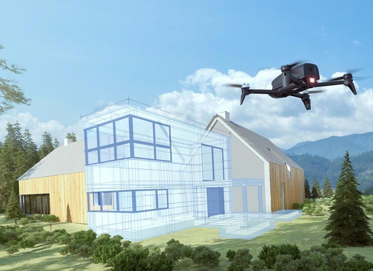 Дрон квадрокоптер для построения 3D модели
