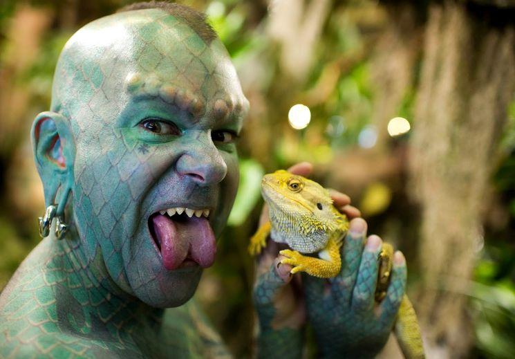 Эрик Спрага - человек ящерица