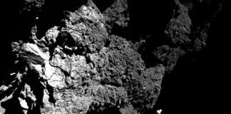 Фотоснимок поверхности кометы Чурюмова - Герасименко с борта модуля Philae