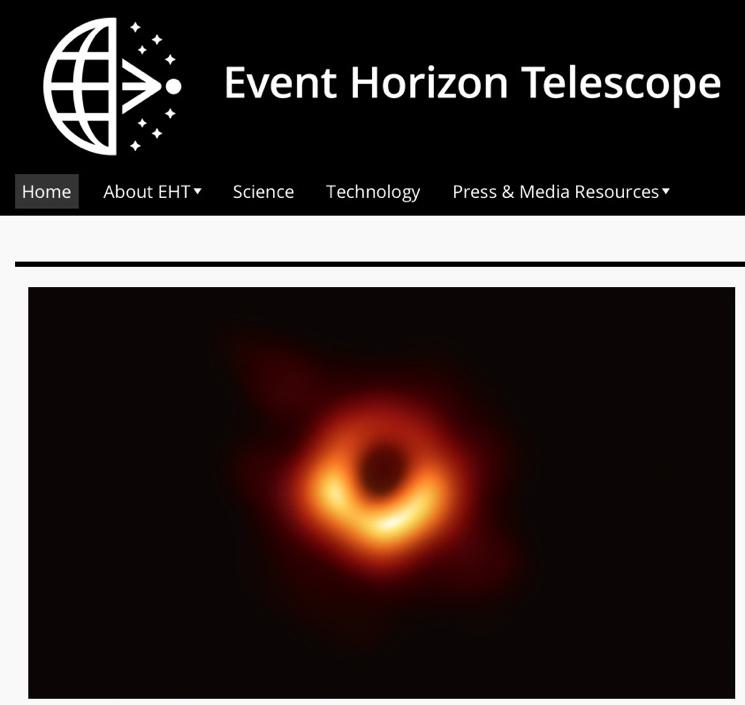 Фото черной дыры от Event Horizon Telescope