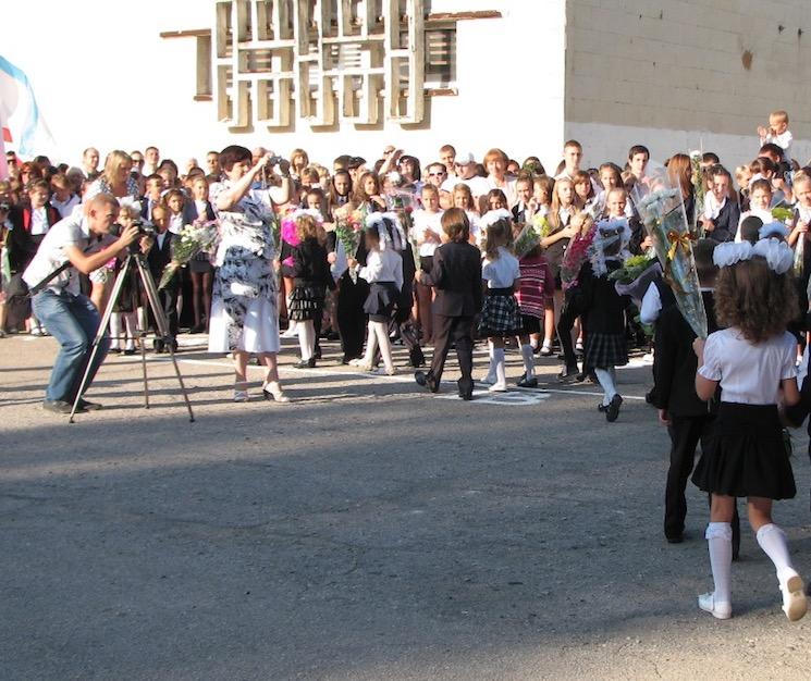 Фото и видеосъемка школьной линейки