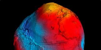 Гравитационная модель Земли, на основе данных спутника GOCE к марту 2011