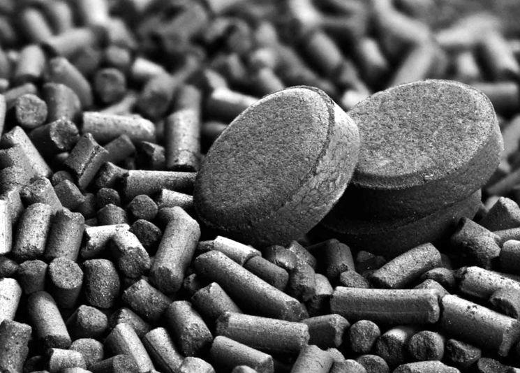 Гранулы активированного угля
