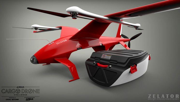 Грузовой беспилотник Zelator 28 в конкурсе Airbus