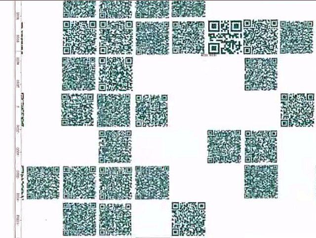 QR-код под увеличением