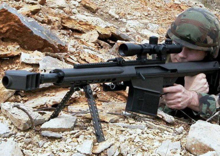 Испытания гранатомета Barrett XM109