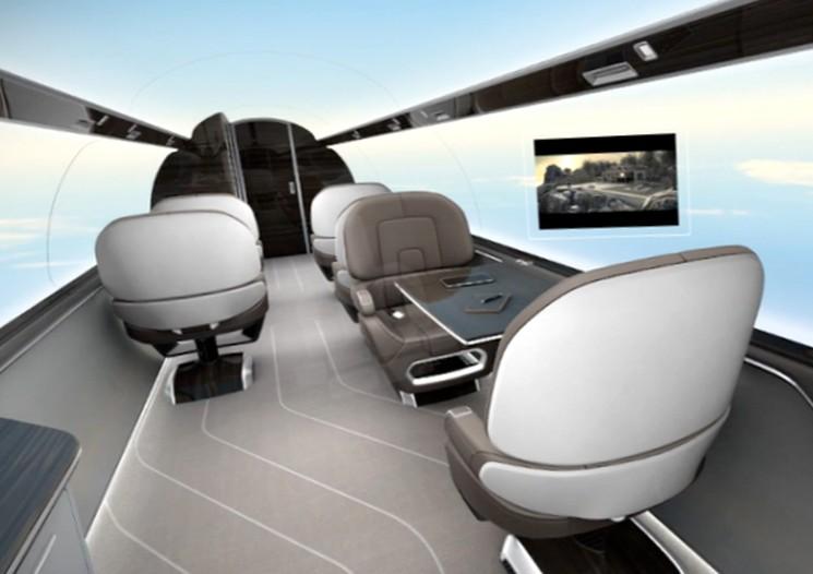 Самолет концепт с панорамными стенками IXION Jet