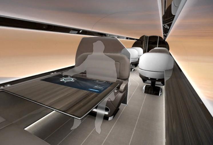 IXION Jet - самолет концепт с мониторами вместо иллюминаторов
