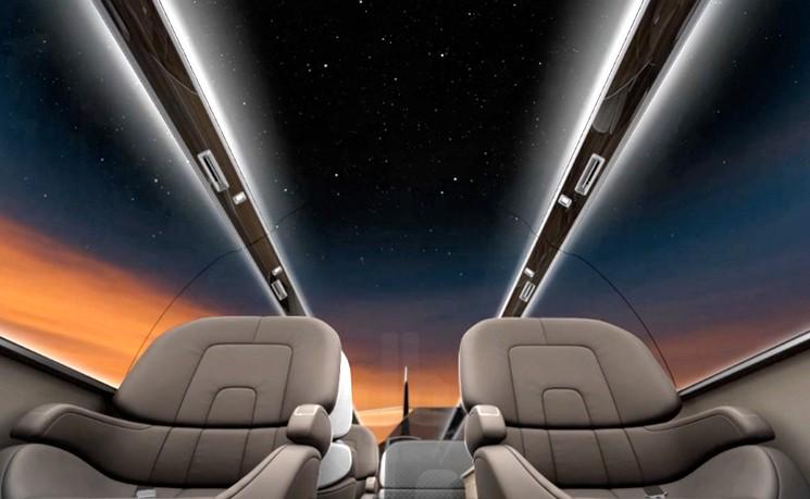 Самолет IXION без иллюминаторов, но с панорамными обзорными мониторами