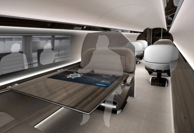 Прототип самолета IXION без иллюминаторов