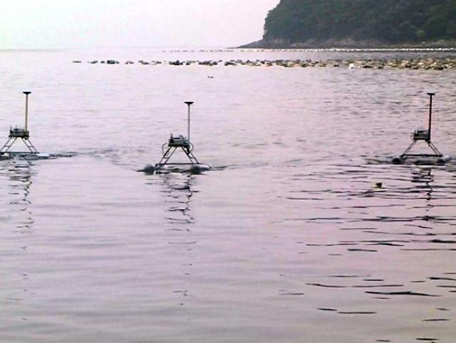 Три дрона JEROS в акватории залива