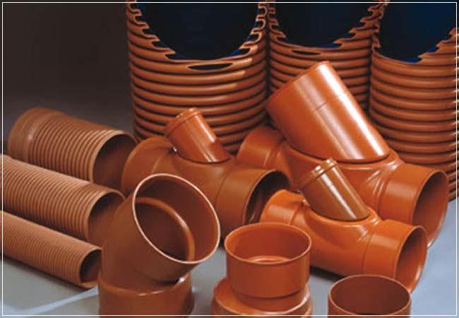 Обустройство наружной канализации. Применяемые пластиковые канализационные трубы