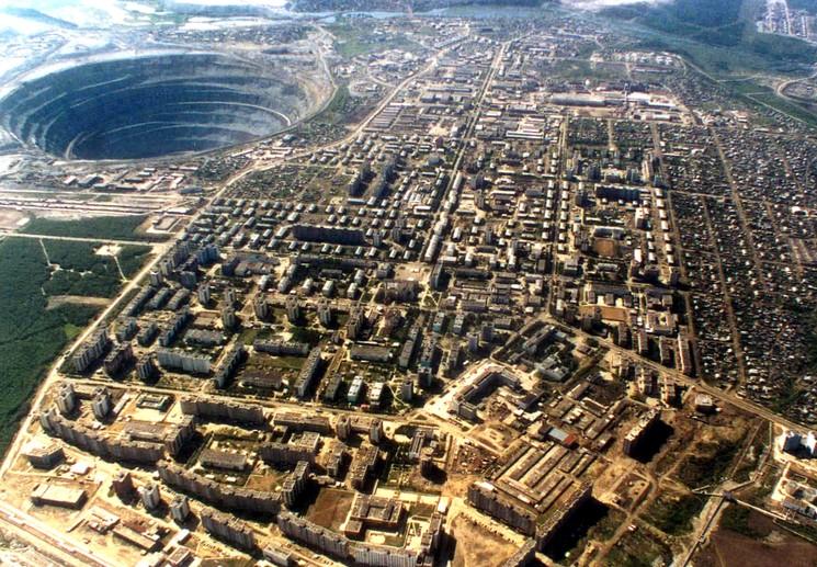 Кимберлитовая трубка Мир в Якутии