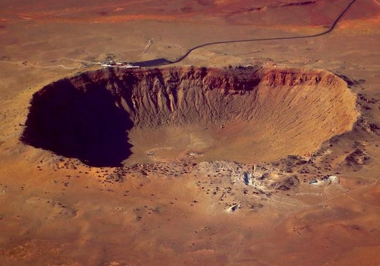 Кратер Вабар от упавшего метеорита