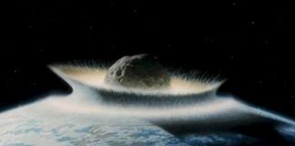 Падение лунного метеорита