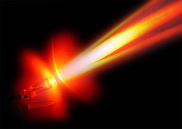 Наведение лезерного луча для затвердевания