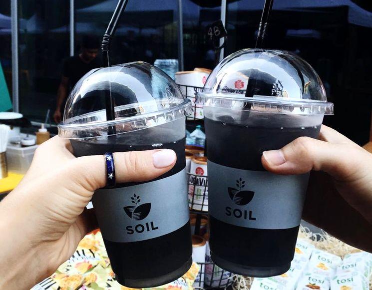 Напиток из активированного угля