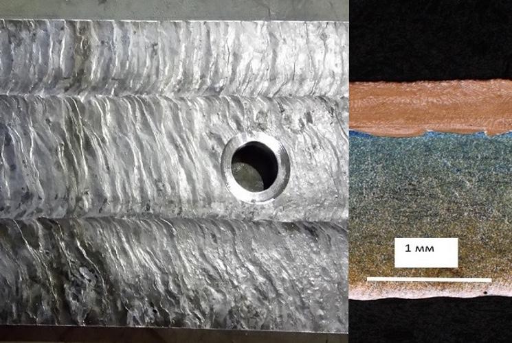 Наплавка антикоррозионного слоя с помощью электронного пучка