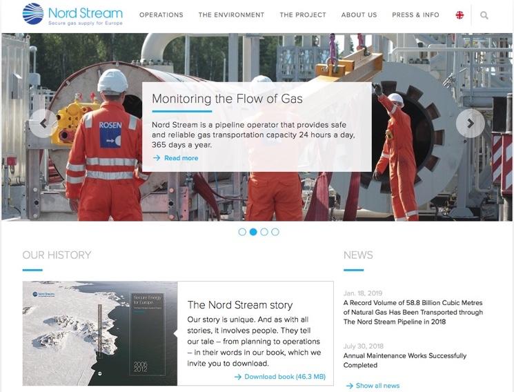 Официальный сайт компании Nord Stream AG