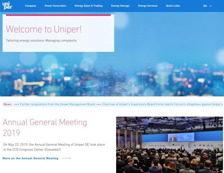 Основание компании Uniper и выбор пути газотранспортной системы
