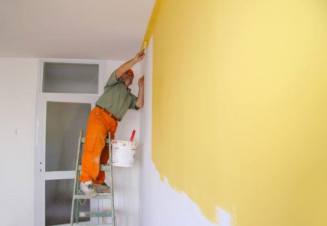 Краска для стен и потолков. Покрасочные работы