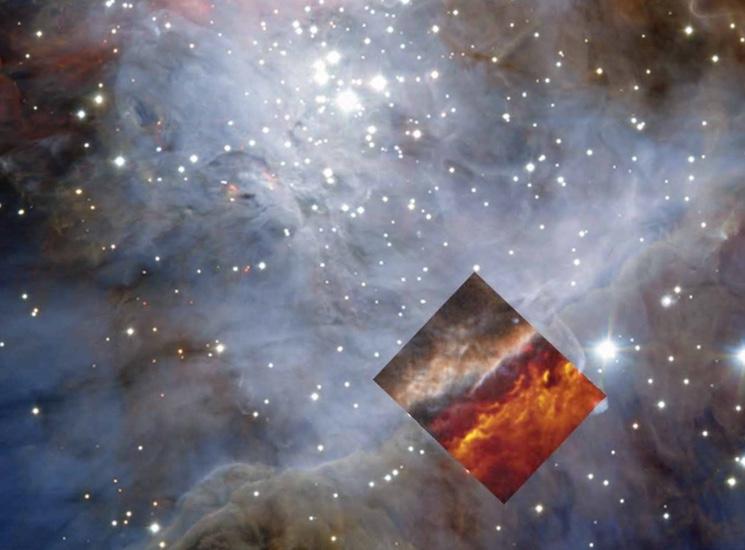 Рождения звезд галактики в созвездии Ориона