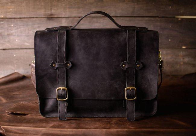 Кожаные мужские сумки и портфели ручной работы