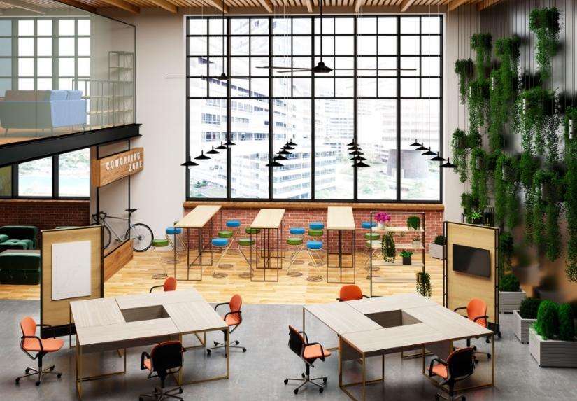 Современный офис компании от производителя Меркс