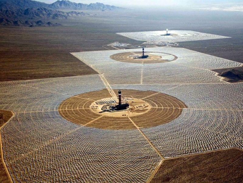 Солнечная электростанция в Мохаве
