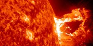 Солченые вспышки, фото NASA
