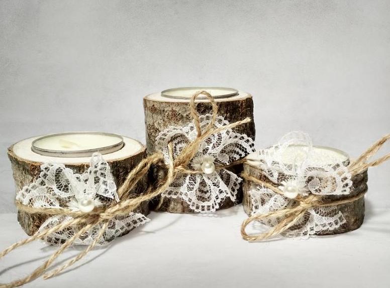 Использование свадебных подсвечников
