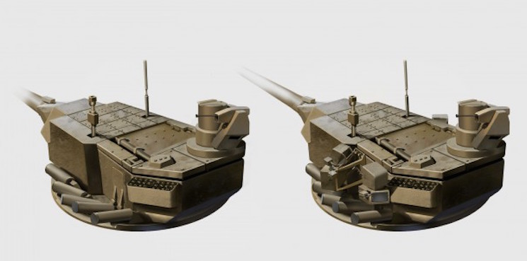 Компоновки необитаемой башни танка Т-14 Армата