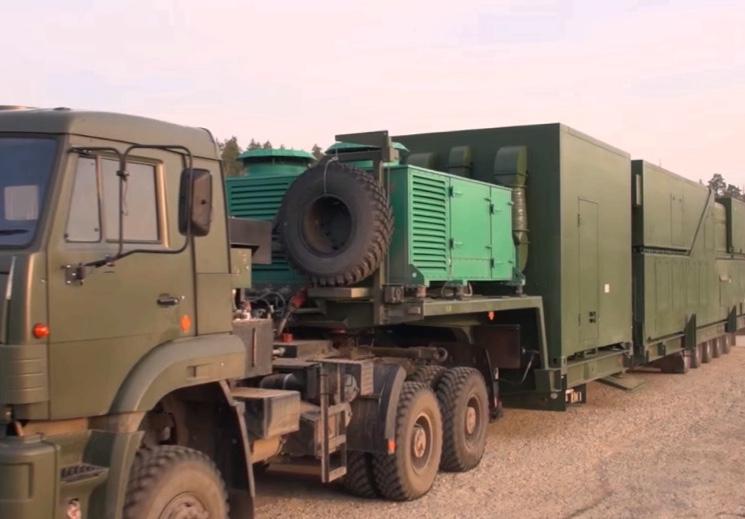 Транспортировка лазерного комплекса Пересвет седельным тягачом КАМАЗ 65222