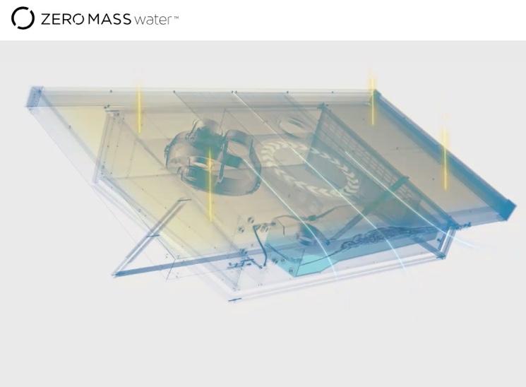 Установка для получения воды из воздуха компанией Zero Mass Water