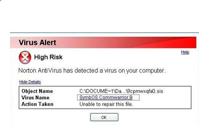 Мобильный вирус CommWarrior