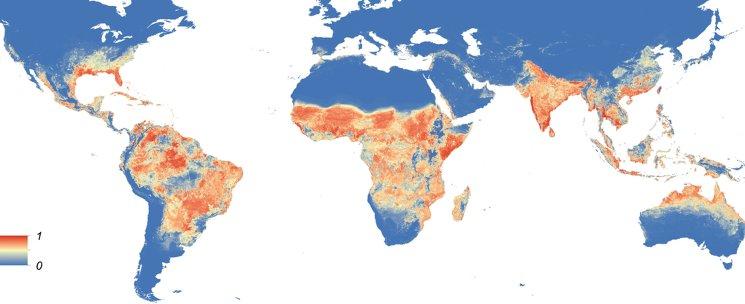 Карта пандемии вируса Зика