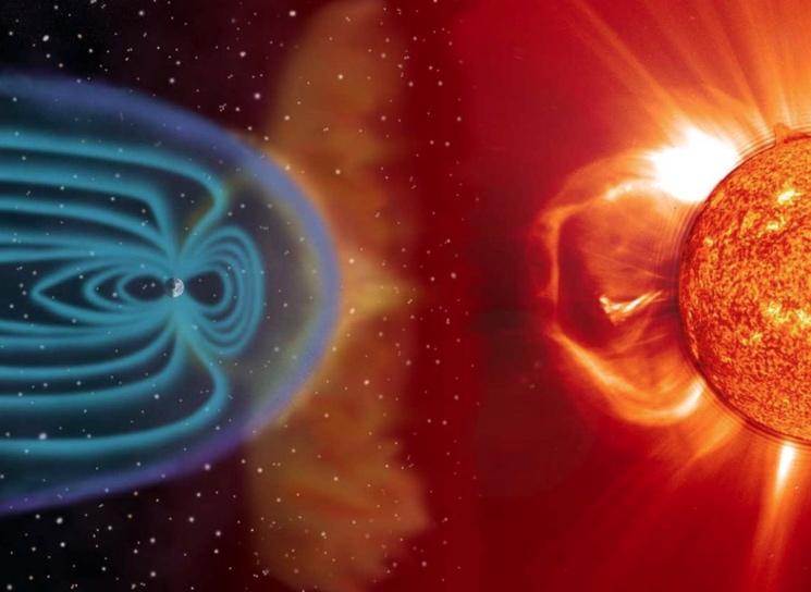 Влияние солнечного ветра на Землю